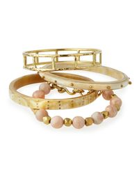 Ashley Pittman | Metallic Faulu Light Horn Bangles | Lyst