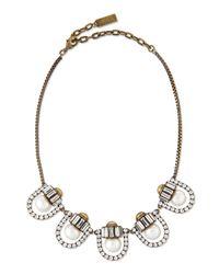 Auden | Metallic Lana Crystal-pearl-station Necklace | Lyst