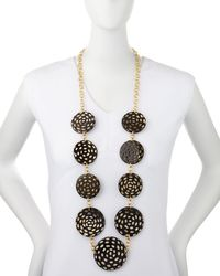 Nest - Brown Spotted Horn Disc Necklace - Lyst