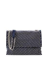 Lanvin   Blue Medium Sugar Eyelet-studded Shoulder Bag   Lyst