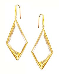 Lana Jewelry | Metallic 14k Elite Jetset Crystal Dangle Earrings | Lyst