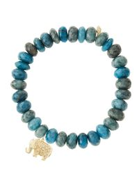 Sydney Evan | Blue Design Your Own Bracelet (made To Order) | Lyst
