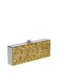 Edie Parker - Metallic Flavia Ribbon Acrylic Clutch Bag - Lyst