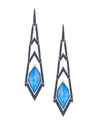Stephen Webster   Blue Lady Stardust Crystal Haze Earrings   Lyst