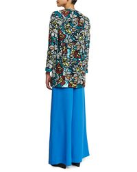Alice + Olivia - Blue Rory Sequined Coat - Lyst