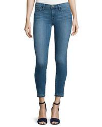 FRAME - Blue Le Skinny De Jeanne Cropped Jeans - Lyst
