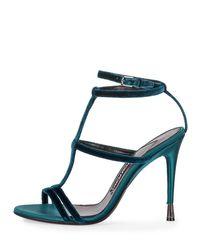 Tom Ford - Blue Caged Velvet Sandals - Lyst