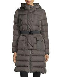 Moncler - Black Khloe Quilted Puffer Coat W/ Fur Hood - Lyst
