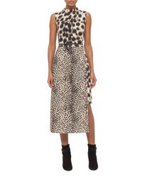 Akris | Multicolor Cheetah-print Asymmetric-hem Dress | Lyst