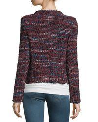 IRO - Red Carene Tweed Wool-blend Jacket - Lyst