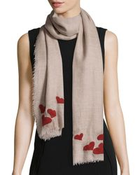 Faliero Sarti | Natural For Love Scarf With Hearts | Lyst