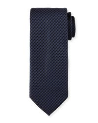 Brioni | Blue Woven Mini-houndstooth Silk Tie for Men | Lyst