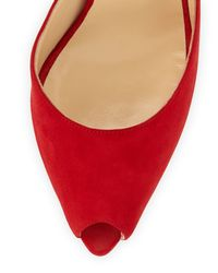 Christian Louboutin - Red Women's Barbara Half D'orsay Pumps - Lyst