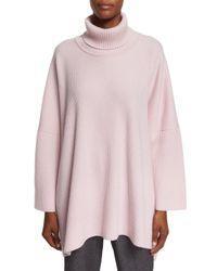 Eskandar - Pink Ribbed Cashmere Turtleneck Sweater - Lyst