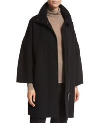 VINCE | Black Wool Duffle Coat | Lyst