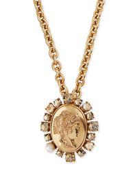 Oscar de la Renta | Metallic Bold Cameo Pendant Necklace | Lyst