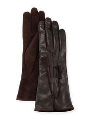 Mario Portolano | Black Leather & Suede Tassel Gloves | Lyst