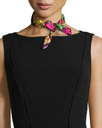 Anna Coroneo - Multicolor Pineapples Silk Square Scarf - Lyst