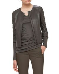 Akris Punto | Multicolor Perforated Leather Jacket | Lyst