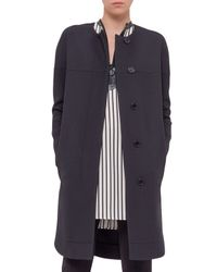 Akris Punto - Black Long-sleeve Long Coat - Lyst