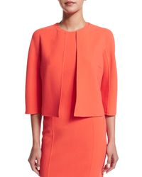 Michael Kors - Multicolor 3/4-sleeve Open-front Jacket - Lyst