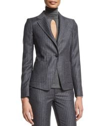 Tom Ford | Gray Pinstripe One-button Jacket | Lyst