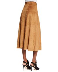 Pink Pony - Multicolor Lace-up Suede A-line Skirt - Lyst
