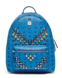 MCM | Blue Stark Men's Stud Medium Backpack for Men | Lyst
