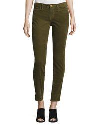 Current/Elliott | Green The Stiletto Corduroy Pants | Lyst