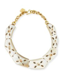 Ashley Pittman | Metallic Malkia Light Horn & Crystal Collar Necklace | Lyst
