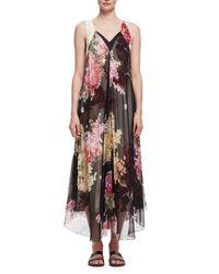 Lanvin | Multicolor Floral-print Double-layer Chiffon Gown | Lyst