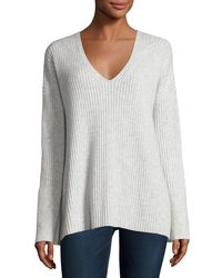 Rag & Bone | Gray Phyllis Ribbed Cashmere Sweater | Lyst