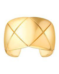 Chanel | Metallic Coco Crush Cuff Bracelet In 18k Yellow Gold | Lyst