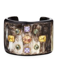 Ashley Pittman | Metallic Mwali Dark Horn Cuff Bracelet | Lyst