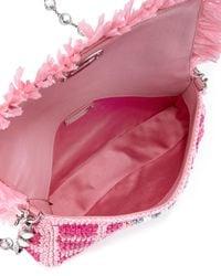 Miu Miu | Pink Crystal Collection Woven Shoulder Bag | Lyst