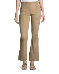 The Row | Natural Beca Lambskin Suede Flare-leg Pants | Lyst