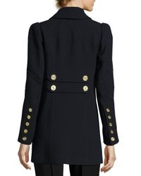 Andrew Gn - Blue Double-breasted Military Wool Coat - Lyst