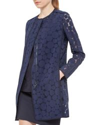 Akris Punto | Blue Punto Dot Zip-front Jacket | Lyst