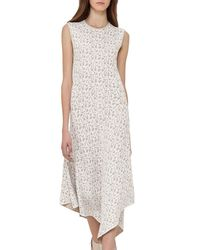 Akris   White Sleeveless Jacquard A-line Dress   Lyst