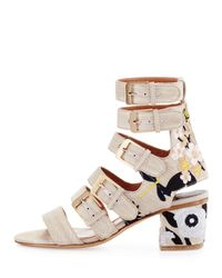 Laurence Dacade - Natural Nora Embroidered Buckle-strap Sandal - Lyst