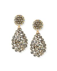 Oscar de la Renta | Metallic Classic Crystal Teardrop Clip Earrings | Lyst