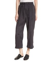 VINCE | Multicolor Striped Slouchy Cropped Pull-on Pants | Lyst