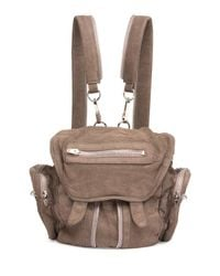 Alexander Wang | Gray Mini Marti Washed Leather Backpack | Lyst
