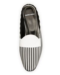 Pierre Hardy - Black Jacno Printed Leather Loafer Mule - Lyst
