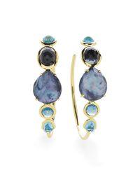 Ippolita - Multicolor 18k Rock Candy Gelato #3 Hoop Earrings In Midnight Rain - Lyst