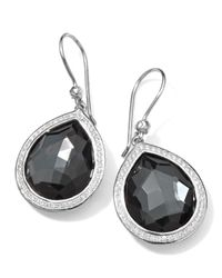 Ippolita | Metallic Stella Teardrop Earrings In Hematite & Diamonds | Lyst