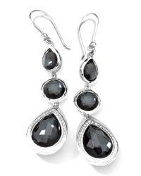 Ippolita - Multicolor Stella 3-drop Earrings In Hematite & Diamonds - Lyst