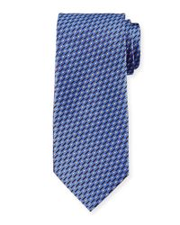 Giorgio Armani | Purple Dot & Slash Neat Printed Tie for Men | Lyst