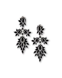Fallon | Multicolor Crystal Cluster Marquis Statement Earrings | Lyst