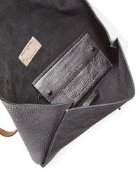 Brunello Cucinelli | Metallic Large Envelope Clutch Bag | Lyst